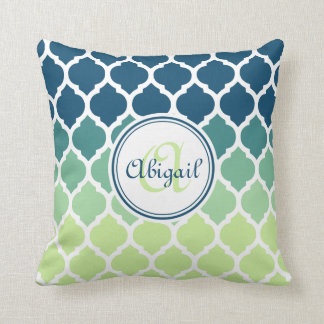 Blue Lattice Throw Pillow : Lattice Pillows - Decorative & Throw Pillows Zazzle