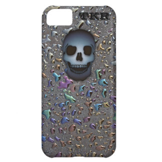 Monogrammed Blue Skull on Oily LOOK iPhone 5C Case