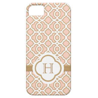 Monogrammed Blush Pink Gold Moroccan iPhone SE/5/5s Case