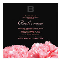 Monogrammed Bridal Shower Invitation
