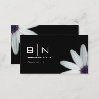 Monogrammed Business Card