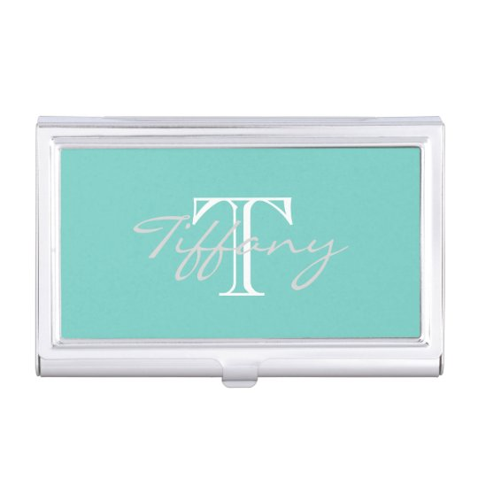 Monogrammed Business Card Holder Zazzle