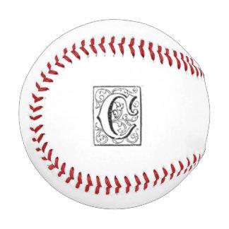 Monogrammed C Baseball