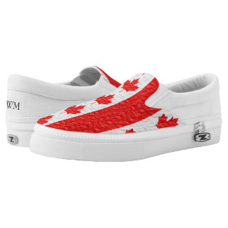Monogrammed Canadian Flag Printed Shoes