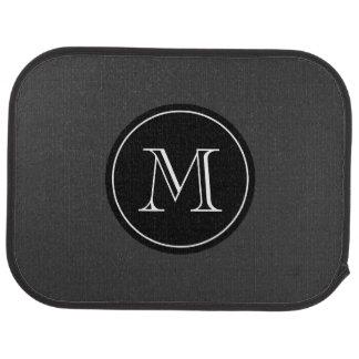 Monogrammed car mats with elegant initial letter