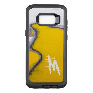 Monogrammed Car Peeling Paint Art OtterBox Defender Samsung Galaxy S8+ Case