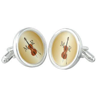 Monogrammed Cello Cufflinks