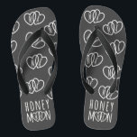 "Monogrammed Chalkboard Honeymoon Flip Flops<br><div class=""desc"">If you&#39;re off on a road trip, a romantic cruise for two or a beach hut hide-a-way, pop a pair (or two) of these chalkboard honeymoon hearts flip flops in your luggage - they won&#39;t take up too much space. A lovely gift for the newlyweds that can be personalized with...</div>"