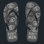 """Monogrammed Chalkboard Honeymoon Flip Flops<br><div class=""""desc"""">If you're off on a road trip, a romantic cruise for two or a beach hut hide-a-way, pop a pair (or two) of these chalkboard honeymoon hearts flip flops in your luggage - they won't take up too much space. A lovely gift for the newlyweds that can be personalized with...</div>"""