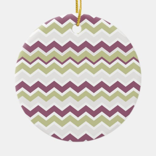 Monogrammed Chevron Brick Christmas Tree Ornament