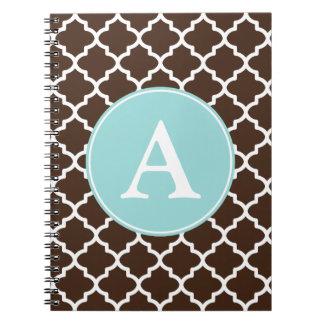 Monogrammed Chocolate Notebook