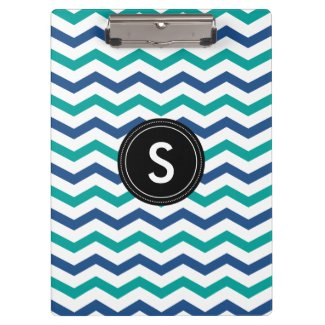 Monogrammed Clipboard Chevron Pattern|Personalized