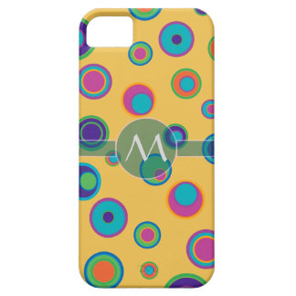 Monogrammed colorful funny dots in dots pattern 2 iPhone 5 cover