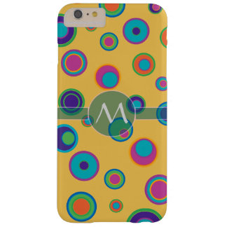 Monogrammed colorful funny dots in dots pattern 2 barely there iPhone 6 plus case