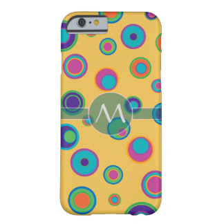 Monogrammed colorful funny dots in dots pattern 2 barely there iPhone 6 case