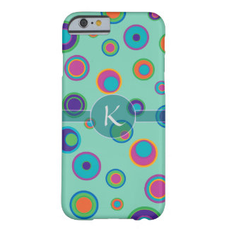 Monogrammed colorful funny dots in dots pattern barely there iPhone 6 case