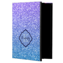 Monogrammed Colorful Glitter And Sparkles Pattern Powis iPad Air 2 Case