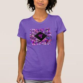 Monogrammed Confetti Purple
