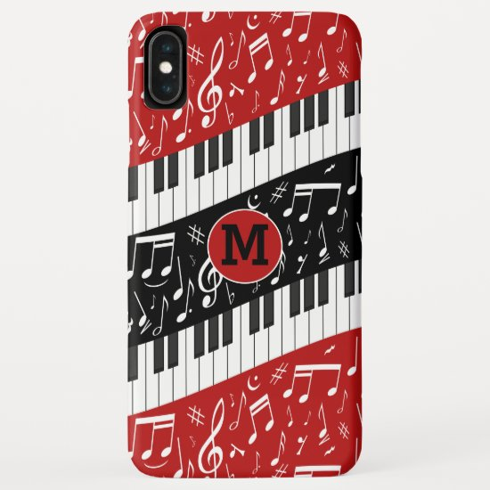 Monogrammed Contemporary curved Music iPhone XS Max Case