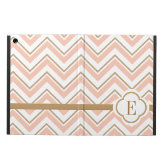 MONOGRAMMED CORAL AND GOLD MOROCCAN COVER FOR iPad AIR