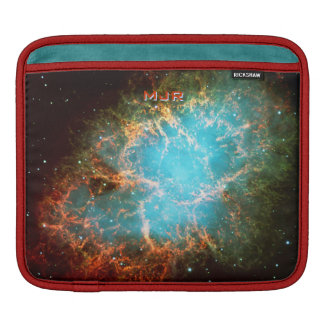 Monogrammed Crab Nebula in Taurus iPad Sleeve