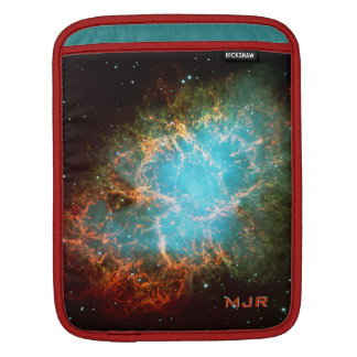Monogrammed Crab Nebula in Taurus Sleeve For iPads