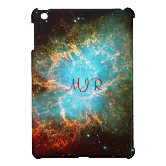 Monogrammed Crab Nebula in Taurus - your initials iPad Mini Cases