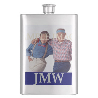 Monogrammed dads fathers photo PERSONALIZE Hip Flask