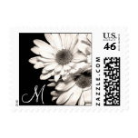 Monogrammed Daisies Stamps