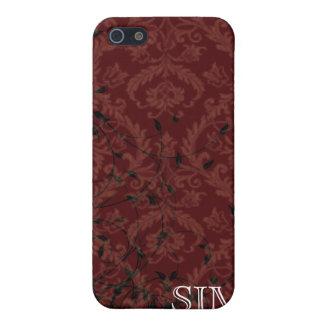 Monogrammed Damask Speck iphone Case