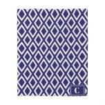Monogrammed Diamond Pattern Fleece Blanket