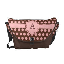 Monogrammed Dots Messenger Bag