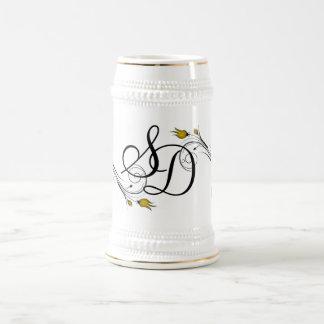 Monogrammed Drinking Stein 18 Oz Beer Stein