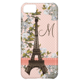 Monogrammed Eiffel Tower iPhone 5C Cases