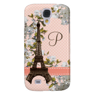 Monogrammed Eiffel Tower Samsung Galaxy S4 Cover