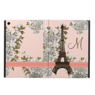 MONOGRAMMED EIFFEL TOWER CHERRY BLOSSOM CASE FOR iPad AIR