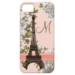 Monogrammed Eiffel Tower iPhone 5 Cover