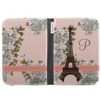 Monogrammed Eiffel Tower Kindle 3 Folio Case Cover Kindle Case