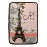 Monogrammed Eiffel Tower Macbook Air Sleeve 13/11 at Zazzle