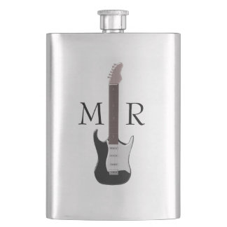 Monogrammed Electric Guitar Flasks