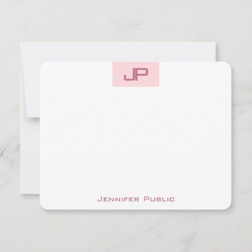 Monogrammed Elegant Blush Pink Simple Template