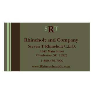 Monogrammed Executive Double-Sided Standard Business Cards (Pack Of 100)