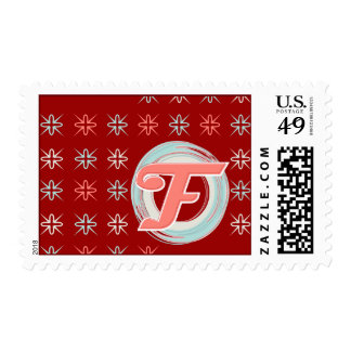 """Monogrammed """"F"""" Holiday Postage Stamps"""