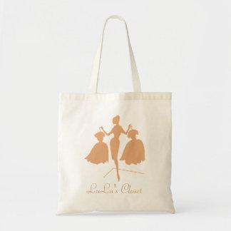 Monogrammed Fashiion Silhouette Budget Tote Bag