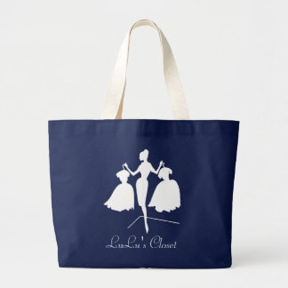Monogrammed Fashiion Silhouette Large Tote Bag