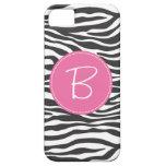 Monogrammed Fashion Zebra Print iPhone 5 Covers