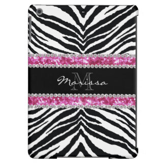 Monogrammed Faux Glitter Bling Rhinestone Girl's iPad Air Cover