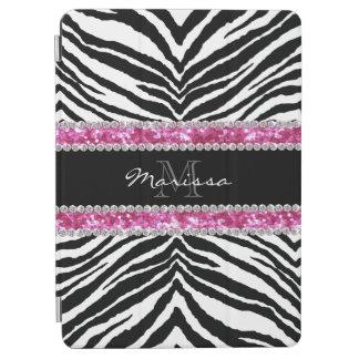 Monogrammed Faux Glitter Bling Rhinestone Girl's iPad Air Cover