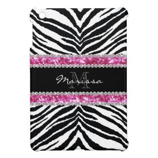 Monogrammed Faux Glitter Bling Rhinestone Girl's iPad Mini Covers