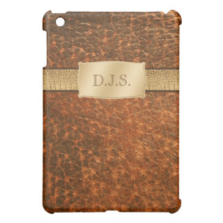 Monogrammed Faux Leather and Snake  iPad Mini Cases